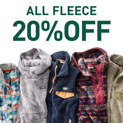ALL FLEECE 20%OFF