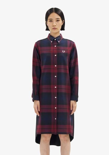 BRUSHED TARTAN SHIRT DRESS