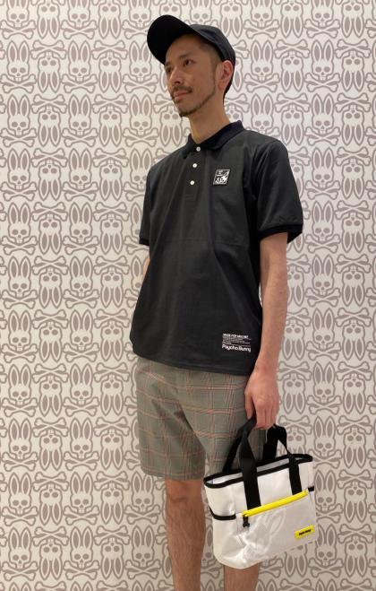 清涼感抜群のラバーワッペンポロシャツ