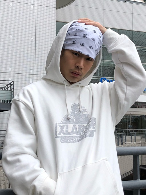 【XLARGE】PYTHON SLANTED OG PULLOVER HOODED SWEAT