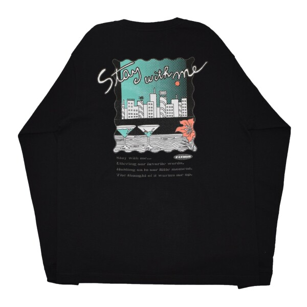 New Arrival!! - Stay with me L/S TEE  -