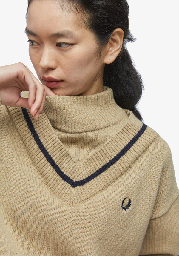 MOCK NECK TENNIS KNIT
