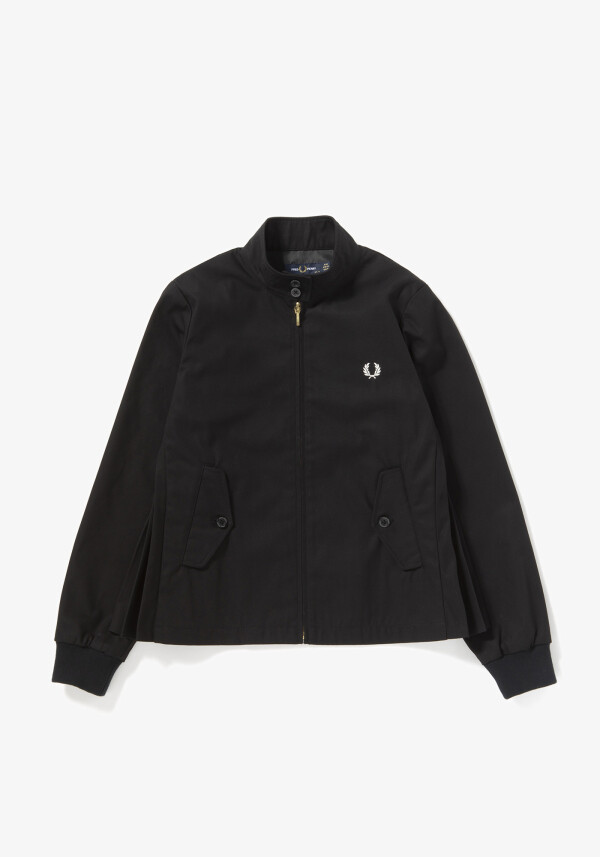 SIDE PLEATED HARRINGTON JACKET
