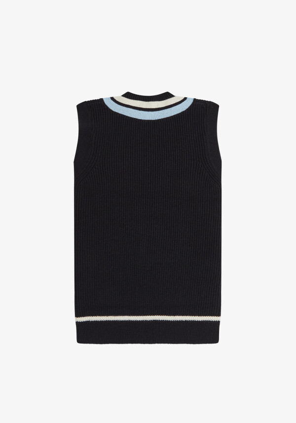 STRIPED NECK KNITTED TANK