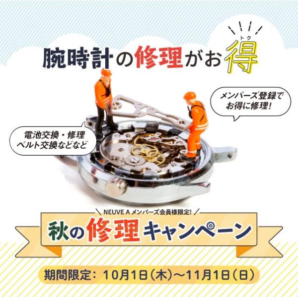 【お知らせ】秋の修理キャンペーン開催中!