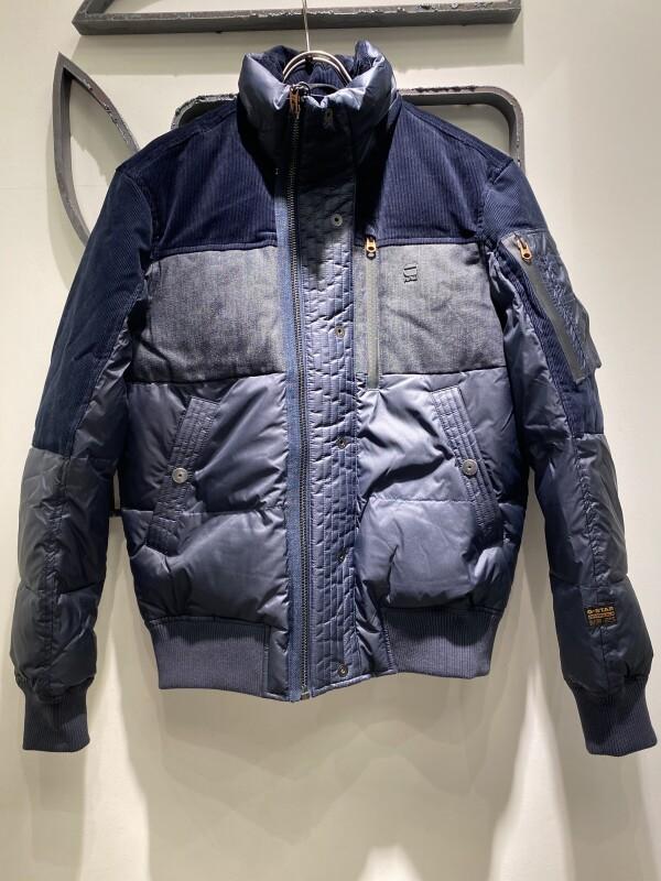 デニムミックス キルティングジャケット