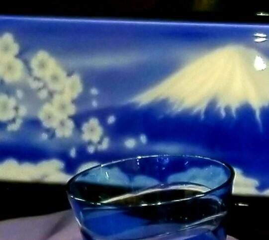 陶額【桜と富士】