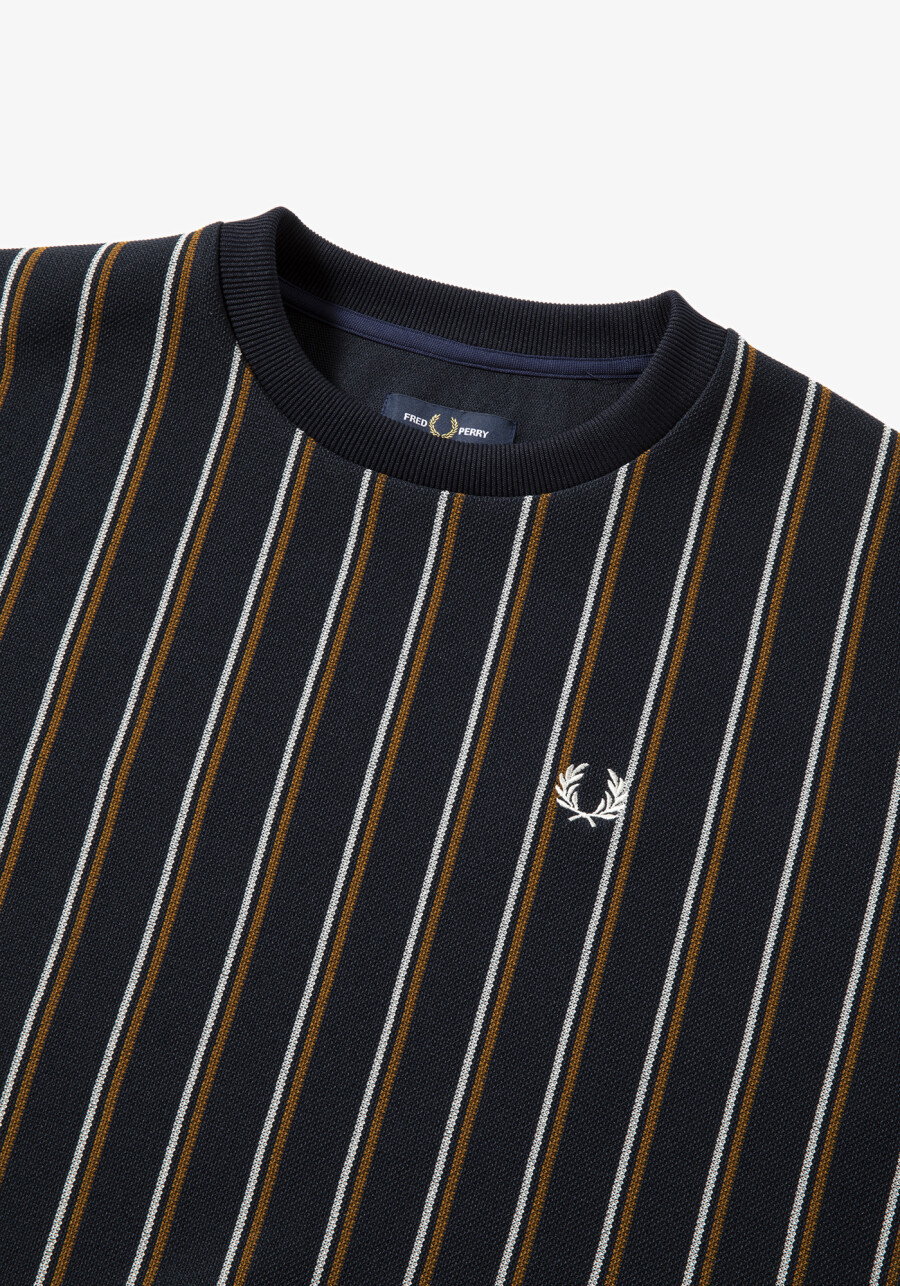 【NEW ARRIVAL】STRIPED CREW NECK TOP